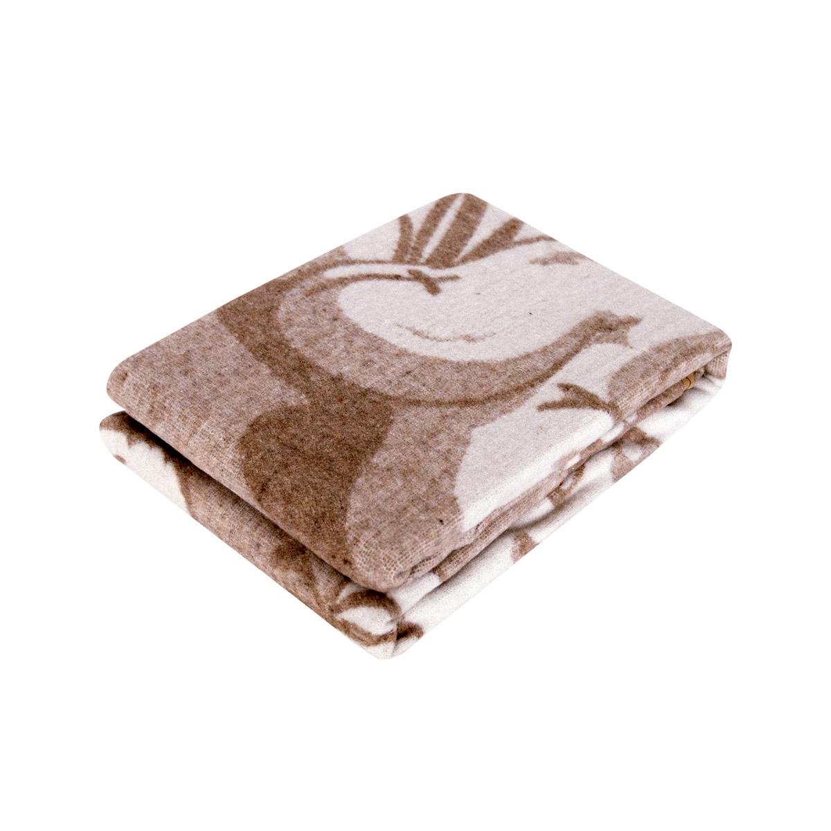 Одеяло Споки Ноки байковое 100% хлопок 100х140 жаккардовое Медвежонок (бежевый, розовый)<br>