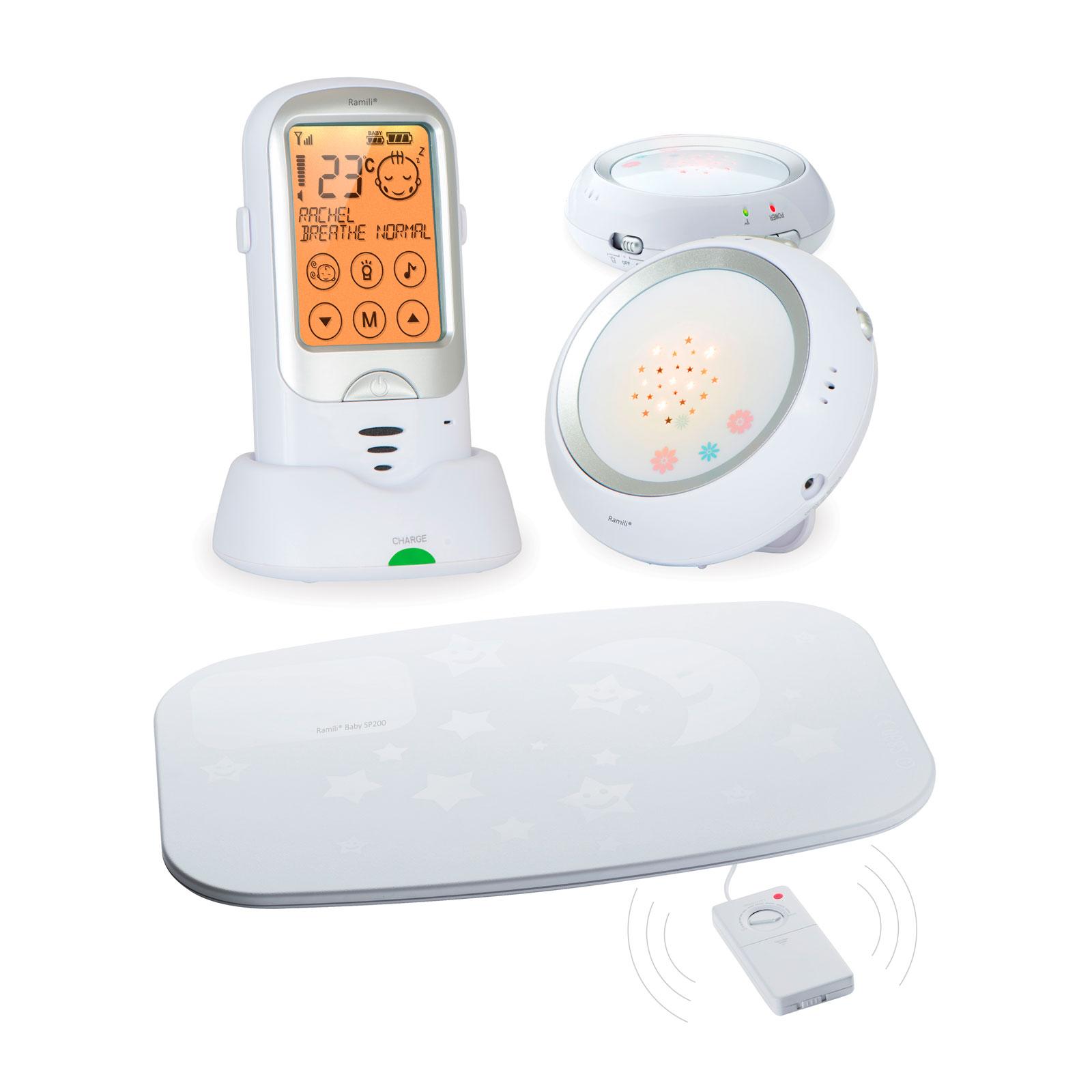 Радионяня Ramili Baby с двумя детскими блоками и монитором дыхания RA300DuoSP<br>