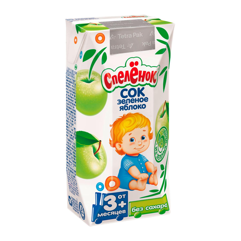 Сок Спеленок 200 мл (тетрапак) Яблоко зеленое с железом (с 3 мес)<br>