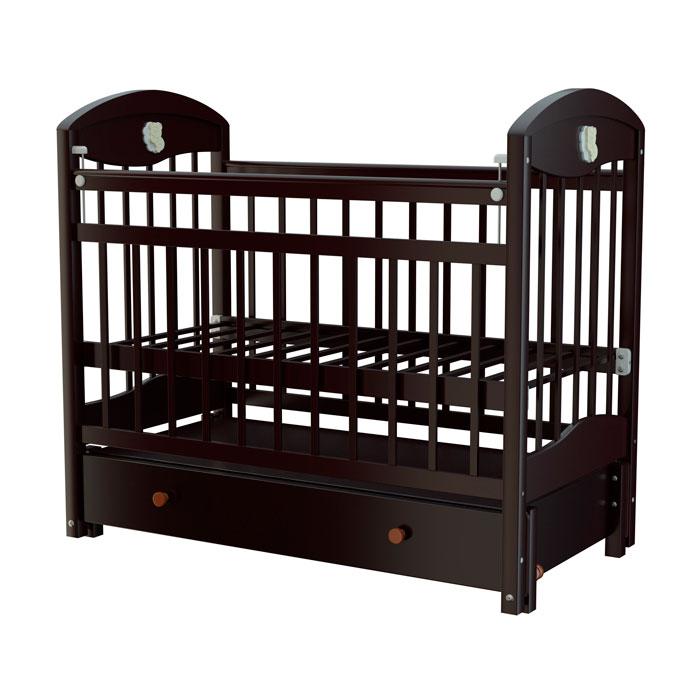 Кроватка Briciola 3 с продольным маятником Темная<br>