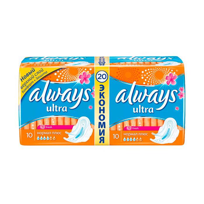 Гигиенические прокладки Always Ultra Aroma 20шт Normal Duo<br>