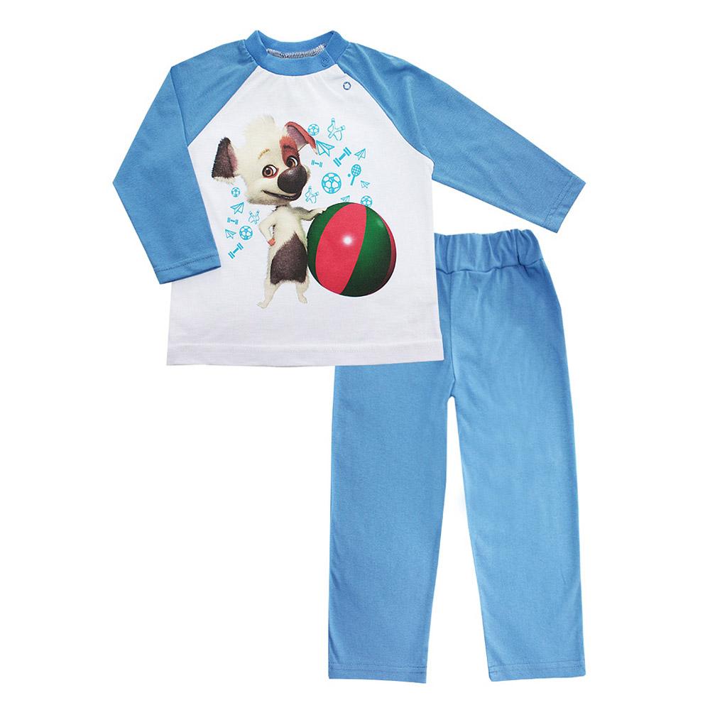 Пижама Котамркот Озорная семейка-Белка и Стрелка (Бублик) рост 92 синий<br>
