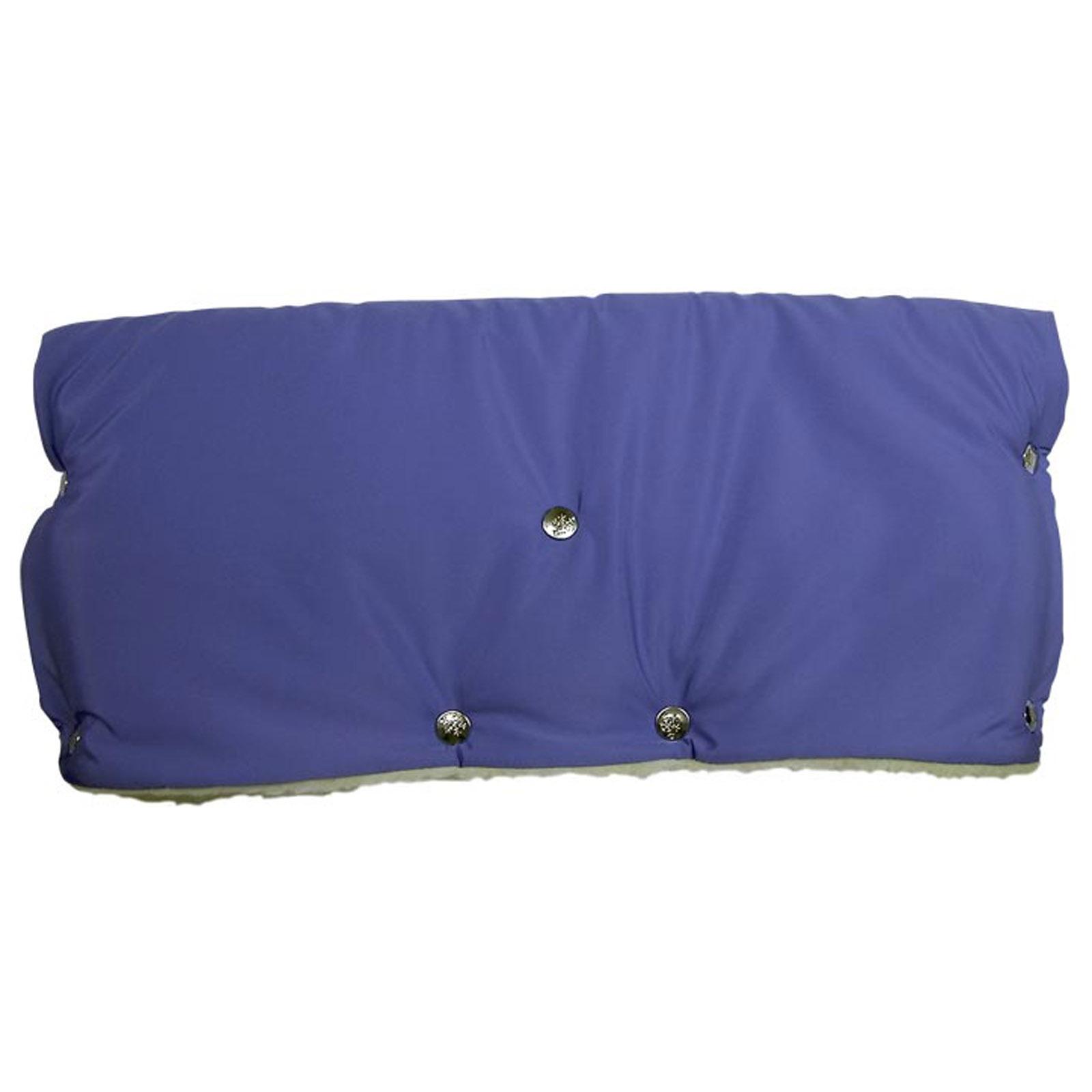 Муфта для коляски Чудо Чадо для защиты рук от холода на кнопках Голубая<br>