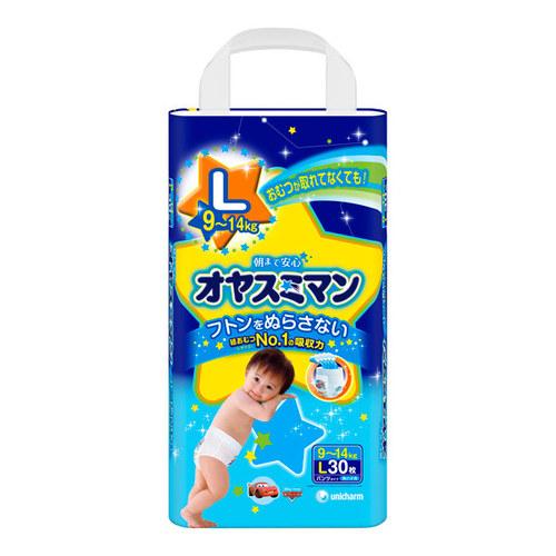 Трусики Moony для мальчиков ночные 9-14 кг (30 шт) Размер L<br>