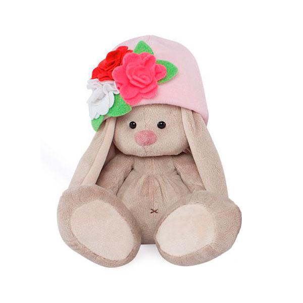 Мягкая игрушка Зайка Ми В шапочке с цветами<br>