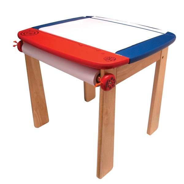 Стол I`m Toy для рисования Синий с держателем для рулона бумаги и контейнером<br>