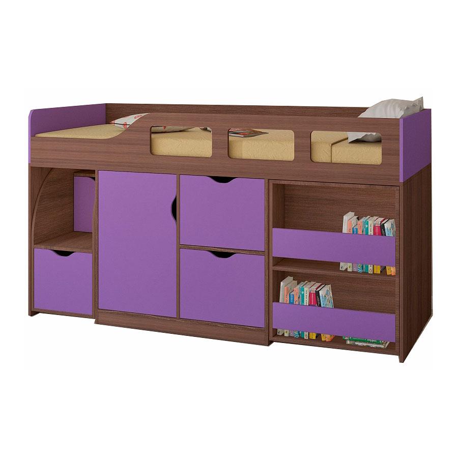 Набор мебели РВ-Мебель Астра 8 Дуб шамони/Фиолетовый<br>
