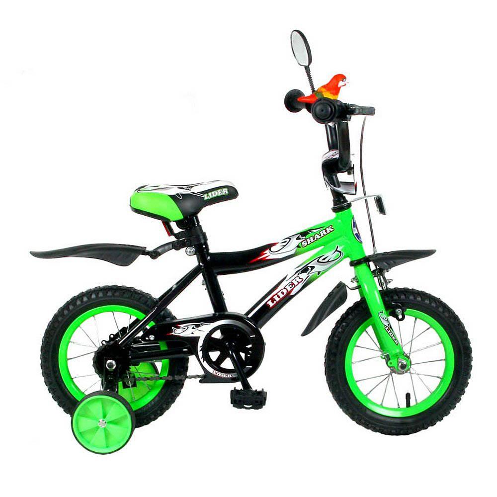 Велосипед двухколесный Velolider 12 Lider Shark 12A-1287 Зеленый/Черный<br>