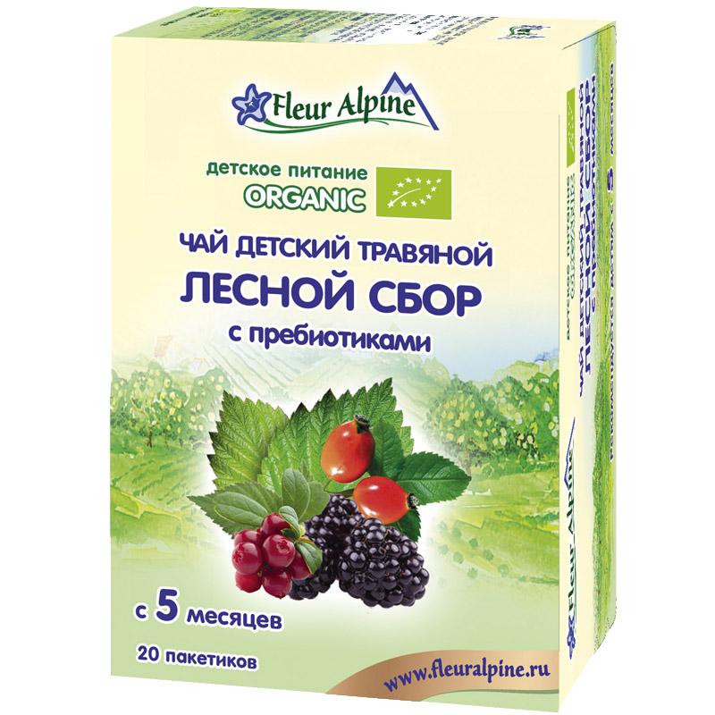 Чай детский Fleur Alpine Organic 30 гр (20 пакетиков) Лесной сбор с пребиотиками (с 5 мес)<br>