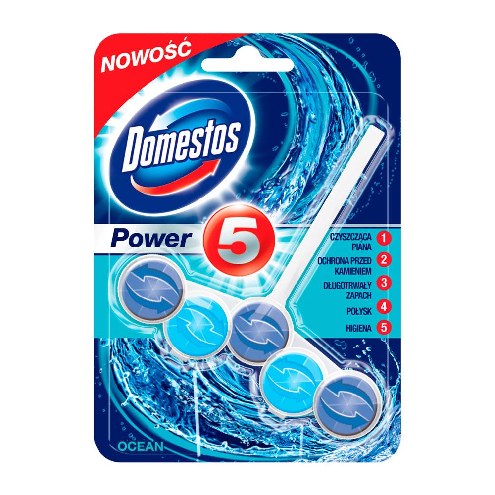 Блок Domestos для очищения унитаза Power 5 свежесть океана 55 гр<br>
