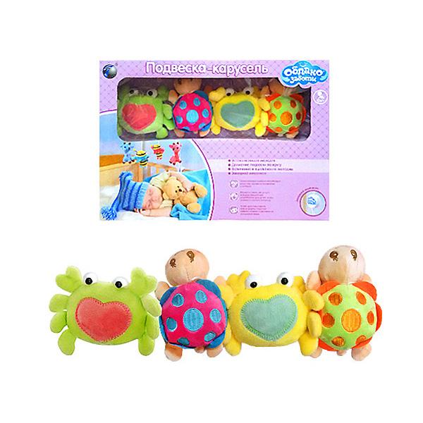 Мобиль Облако заботы музыкальный с мягкими игрушками Крабик и Черепаха<br>