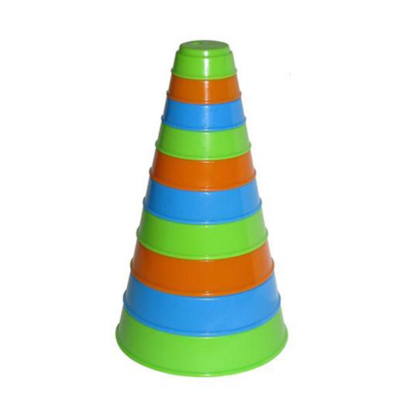 Развивающая пирамидка Полесье 10 элементов