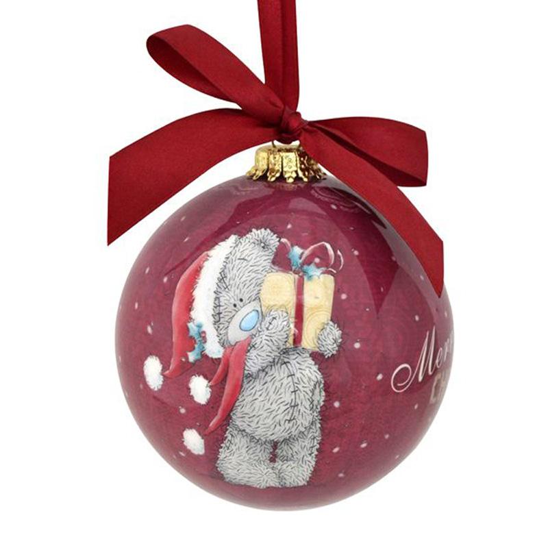 Украшение декоративное Winter Wings Me to you Шар елочный блестящий 10 см в подарочной коробке<br>