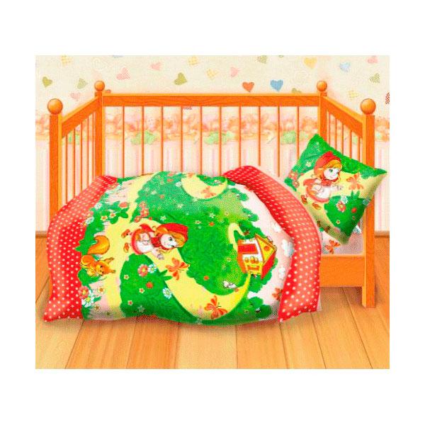 Комплект постельного белья детский бязь Непоседа Кошки-мышки КДКм-1 Красная шапочка<br>