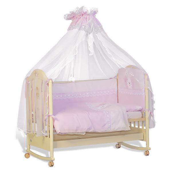 Комплект Папитто Сладкий сон 7 предметов Розовый<br>