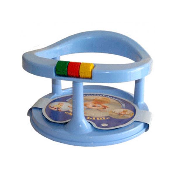 Сидение детское для купания Полимербыт на присосках цвет - Голубой<br>