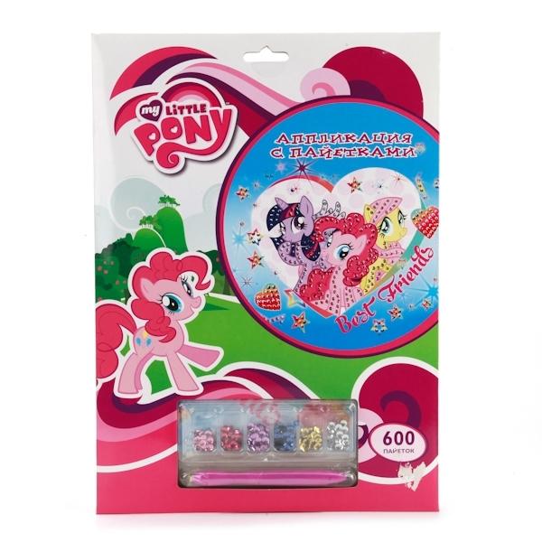 Набор для творчества Multiart My little pony Аппликация из пайеток В конверте<br>