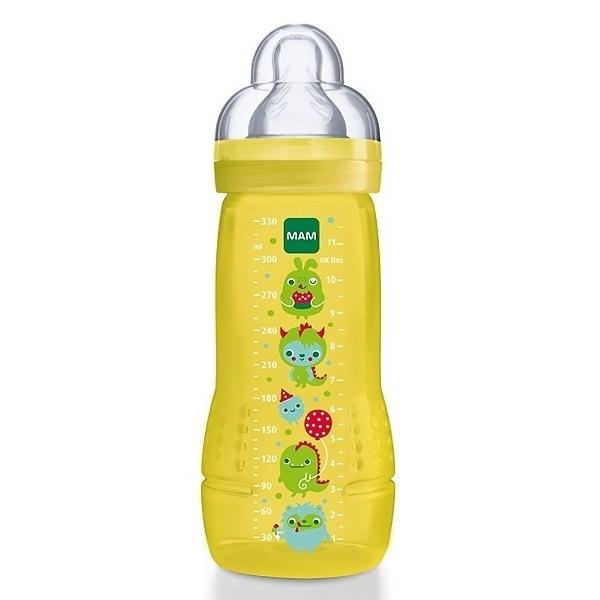 Бутылочка MAM 330 мл (с 6 мес) желтая<br>