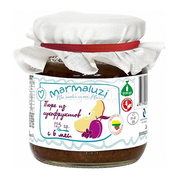 Пюре Marmaluzi фруктовое 125 гр. Сухофрукты (с 6 мес)