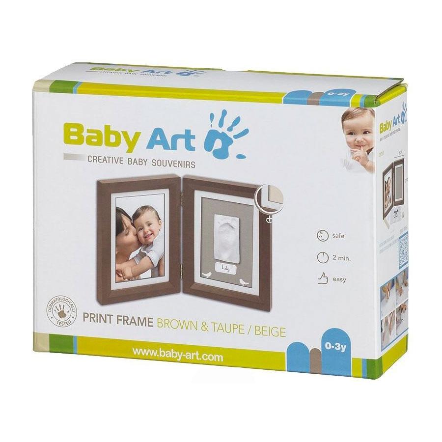 Рамочка Baby Art двойная (шоколад)<br>