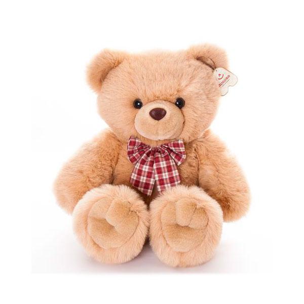 Мягкая игрушка AURORA Медведь  с клетчатым бантом 80 см<br>