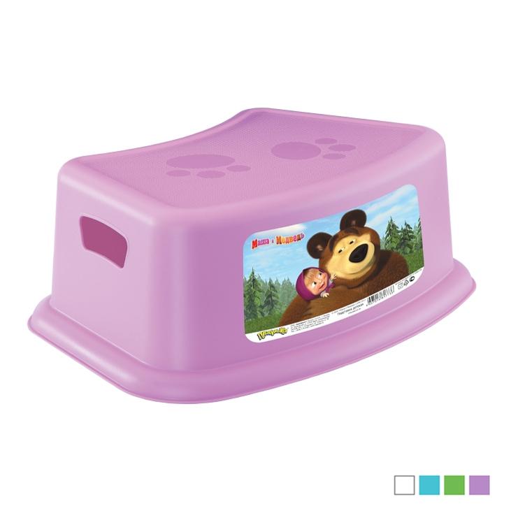Подставка детская Бытпласт С аппликацией Маша и медведь, цвета в ассортименте
