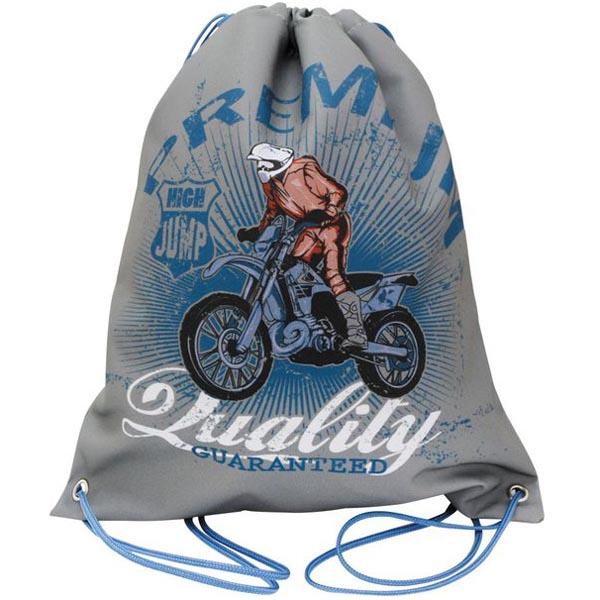 Мешок для обуви ACTION! by TIGER Мотоциклист High Jump Серый<br>