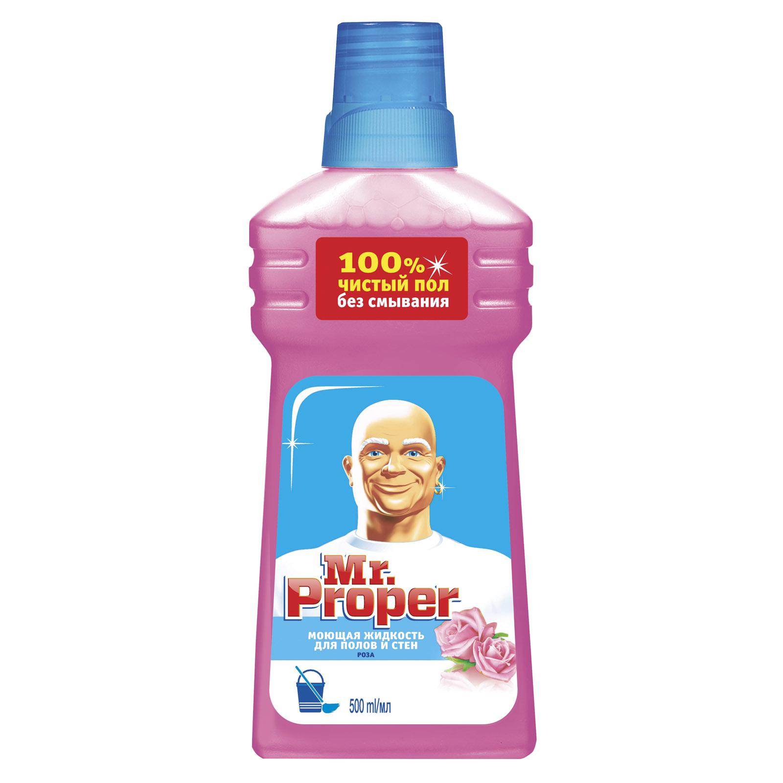 Средство для мытья полов и стен Mr Proper 500 мл Роза<br>