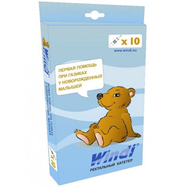 Ректальный катетер Windi Для новорожденных (первая помощь при газиках) 10 шт<br>