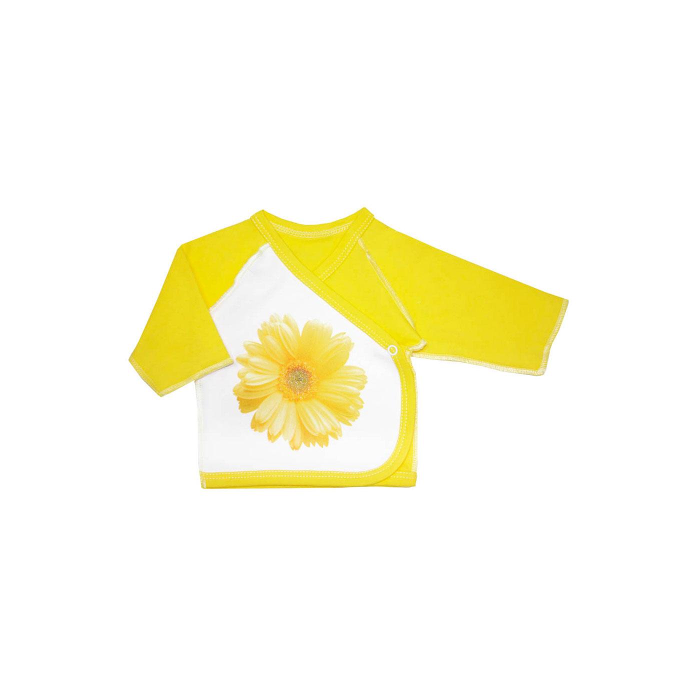 Распашонка Котмаркот Ромашки рост 62 желтый<br>