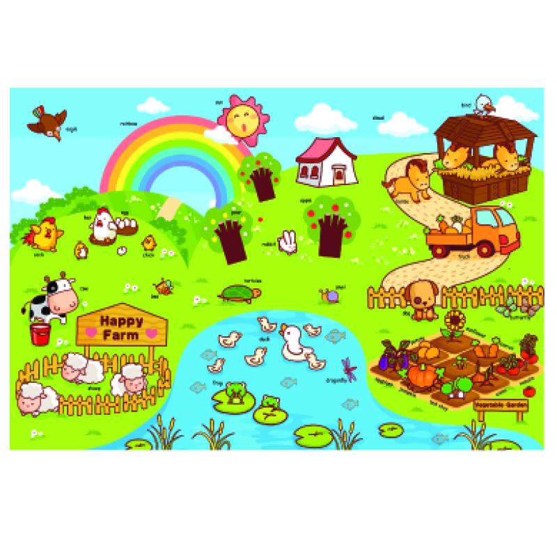 Детский развивающий коврик-пазл Mambobaby Ферма 180х120х2<br>