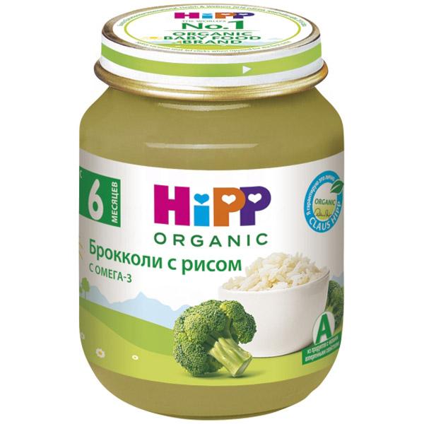 Пюре Hipp овощное 125 гр Брокколи с рисом (с 5 мес)<br>