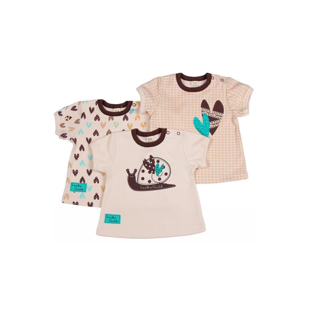 Комплект футболка Lucky Child Улитки (3 шт) рост 80<br>