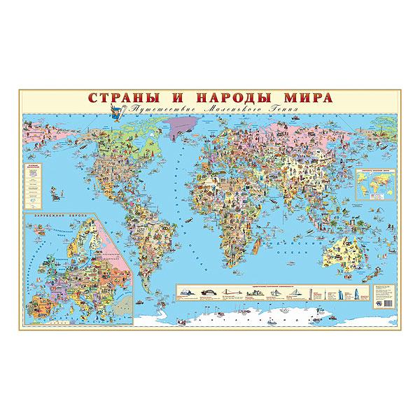 Карта Маленький гений Страны и народы мира<br>
