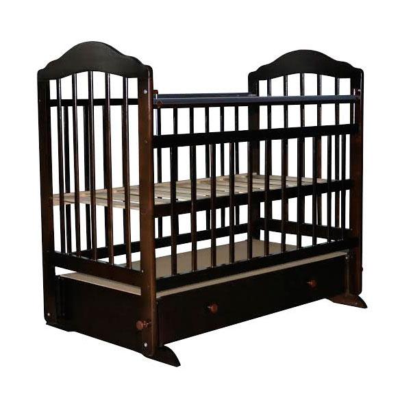 Кроватка Briciola 11 с поперечным маятником Темная<br>