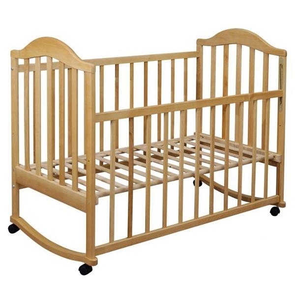 Кроватка  Наполеон колесо качалка Натуральный<br>