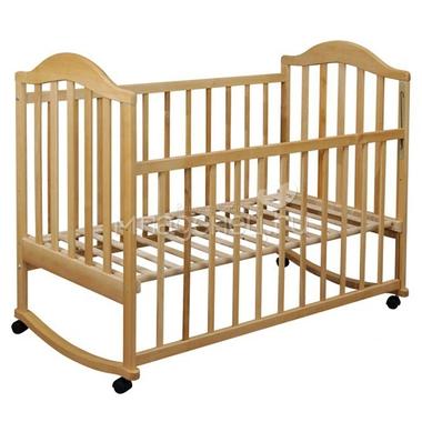 Кроватка  Наполеон колесо качалка Натуральный