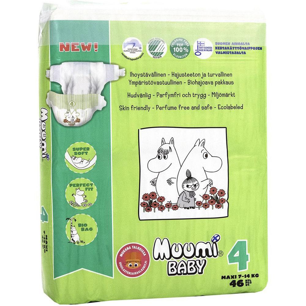Подгузники Muumi Baby Maxi 7-14 кг (46 шт) Размер 4<br>