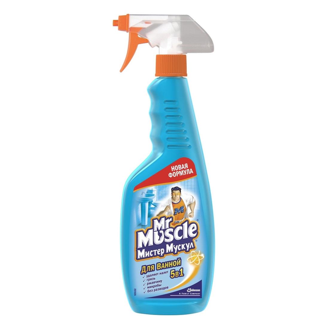 Чистящее средство Мистер Мускул Для ванной 5 в 1 (МИСТЕР МУСКУЛ)