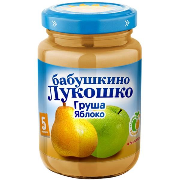 Пюре Бабушкино лукошко фруктовое 200 гр Груша с яблоком (с 5 мес)<br>
