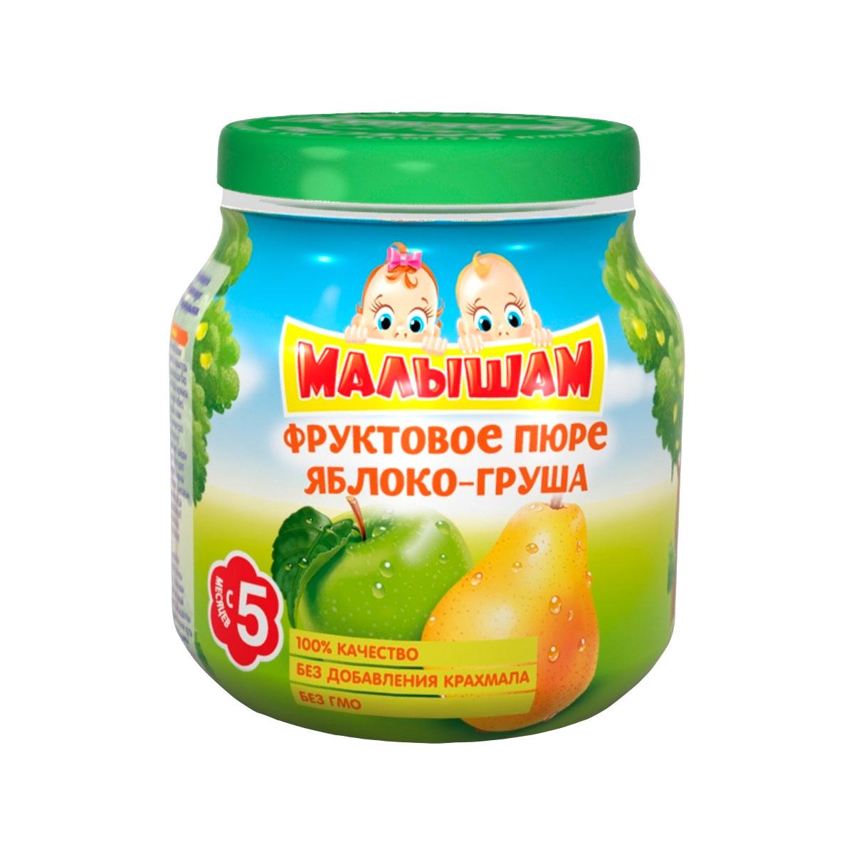 Пюре Малышам фруктовое 100 гр Яблоко груша (с 5 мес)<br>
