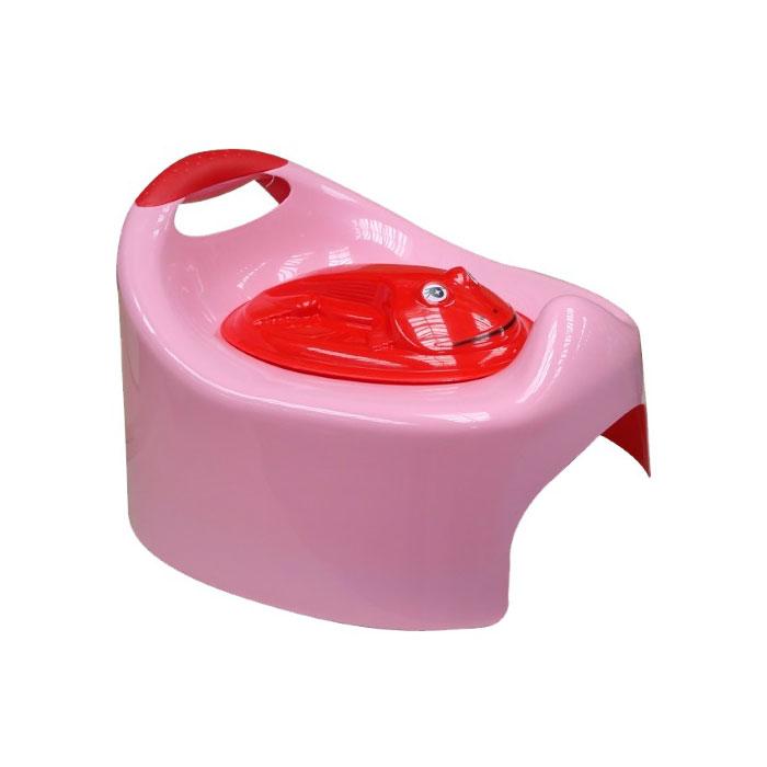 Горшок ArtGos Лягушка с крышкой (розовый)<br>