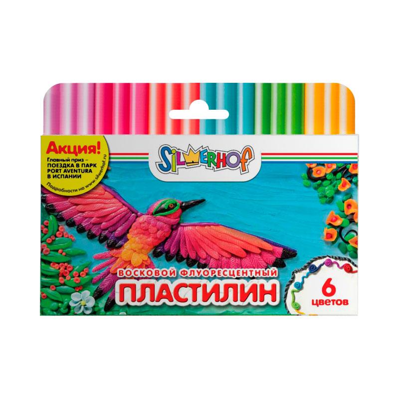 Пластилин Silwerhof Юбилейная коллекция флуоресцентный 6 цветов