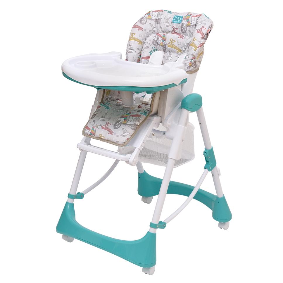 Стульчик для кормления Happy Baby Kevin Aquamarine<br>