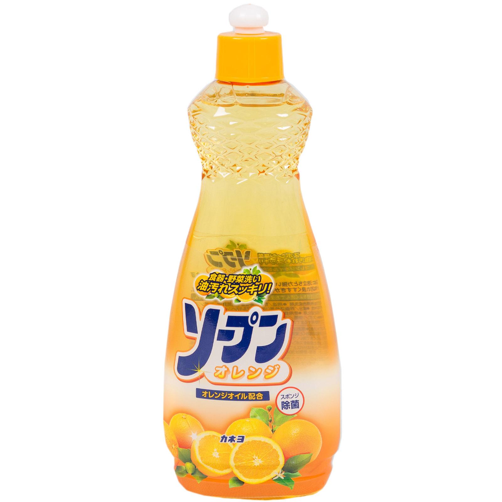 Жидкость для мытья посуды, овощей и фруктов Kaneyo 600 мл. Сладкий апельсин<br>