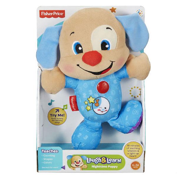 Развивающая игрушка Fisher Price Смейся и Учись Ученый щенок с 6 мес. (игрушка для сна)<br>