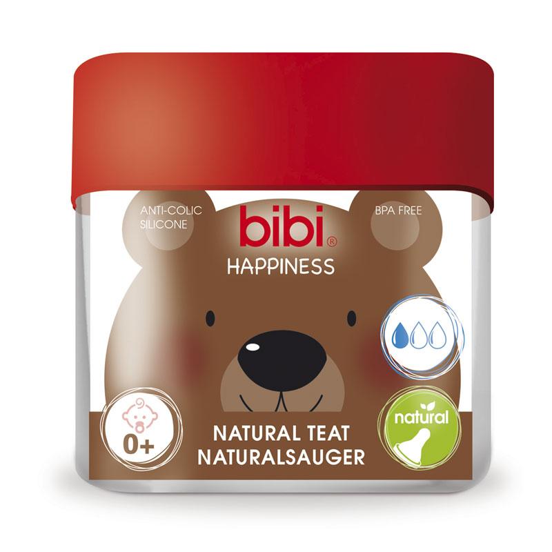 Соска Bibi Natural Happiness Силиконовая 2 шт (с 0 мес)<br>