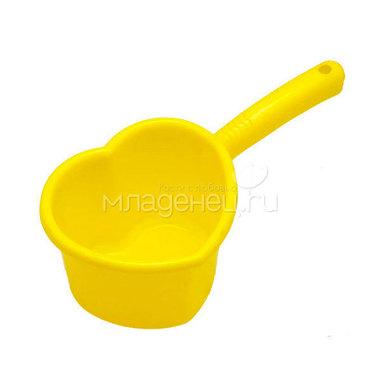 Ковш Пластик Сердечко 1,5 л. цвет - Лимон