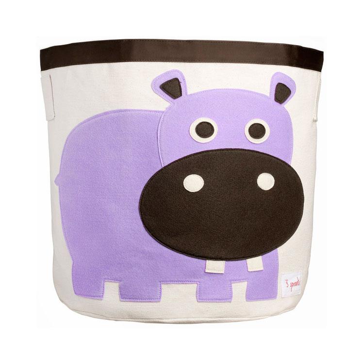 Корзина для хранения 3 Sprouts Бегемотик (Purple Hippo) Арт. 67531<br>