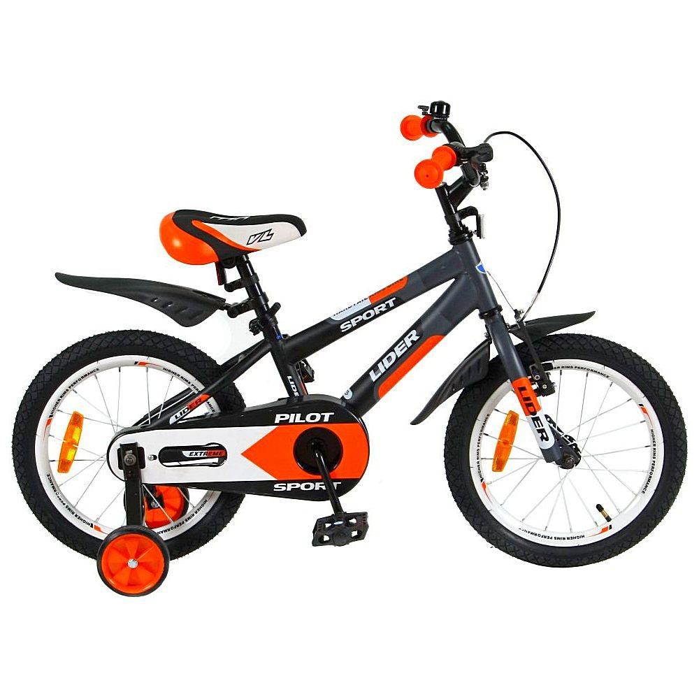 Велосипед двухколесный Velolider 16 Lider Pilot LP16HO MATT Черный/Оранжевый<br>
